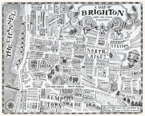A map of Brighton from the latest discoveries Helen Cann