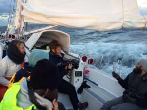 Talking to the crew on Seadragon