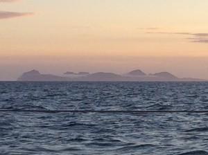 Islands just outside Reykjavik at 3am, July 2014.