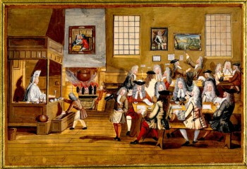 A 17th century coffee house