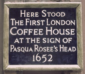 The sign of Pasqua Rosee