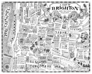A map of Brighton from the Latest Discoveries by Helen CannB&W72dpi