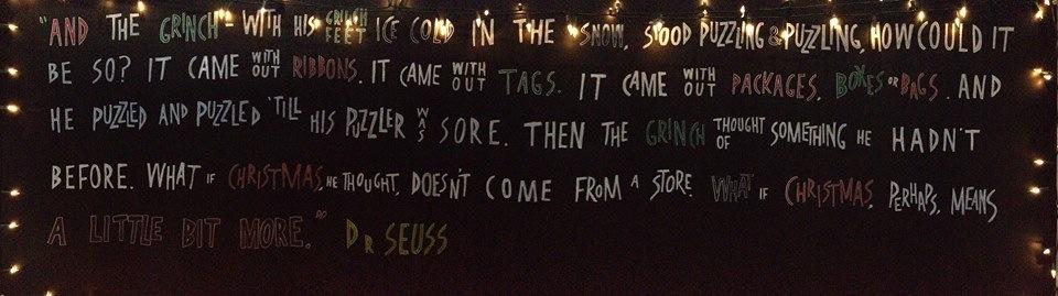 Dr Seuss signage, Dukes at Komedia
