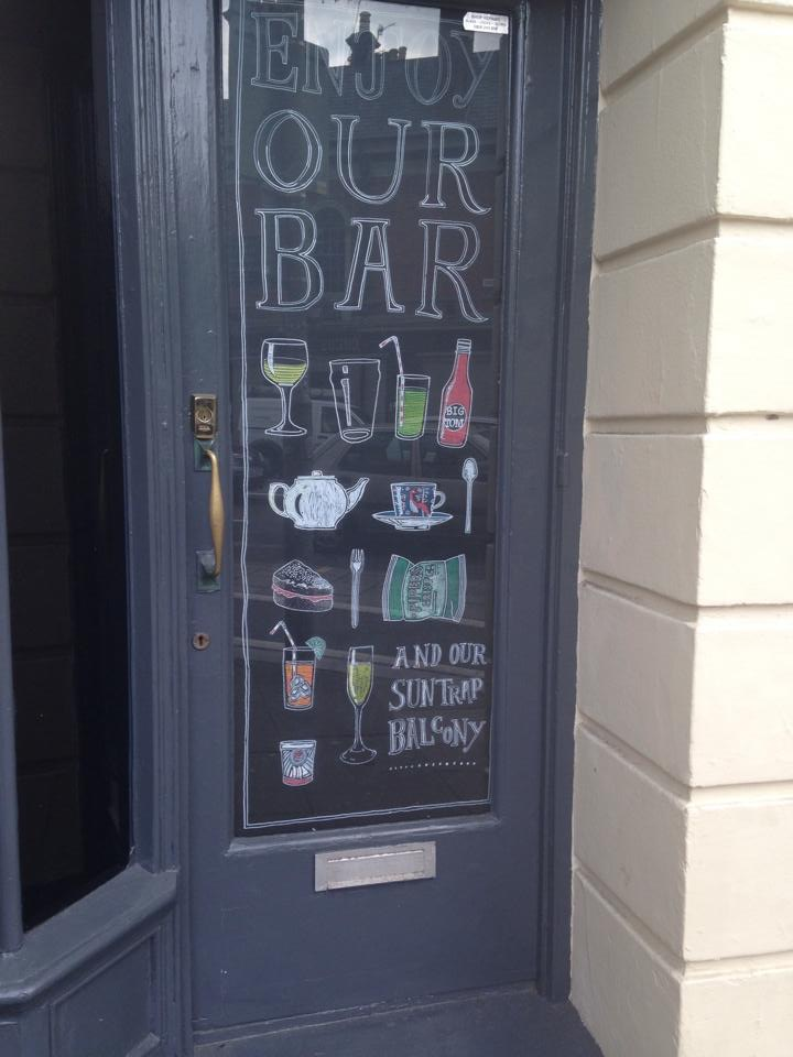 Bar advertisement at Duke of Yorks