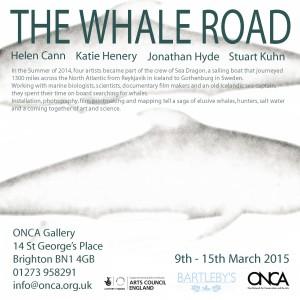 The Whale Road exhibition publicity.