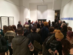 A packed private view.