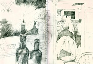I draw the pub architecture and environment...
