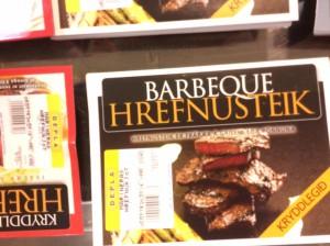 BBQ whale steak ready meals found in an Icelandic supermarket