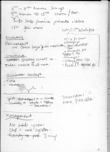 Notes taken in preparation for 'The 'Whaleroad' exhibition.