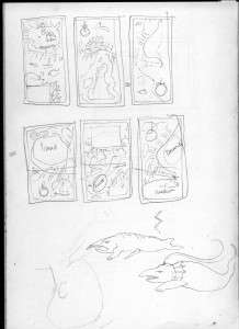 Sketches in preparation for 'We Dream of Blue Whales'
